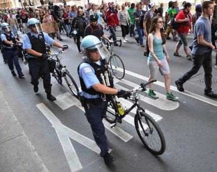 NATO Protestors Scuffle With Police