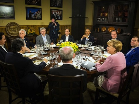 G8 Leaders Meet At Camp David