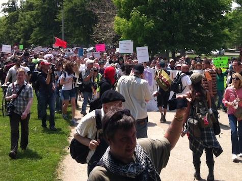 Protesters Shut Down Montrose