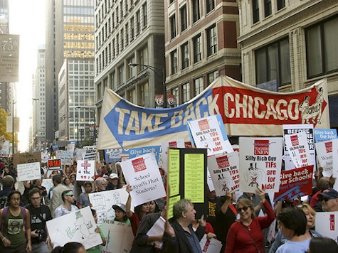 Occupiers Protest Outside Chicago Board Of Trade