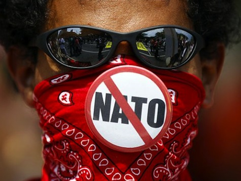 Protesters Keep Going After NATO Summit Ends