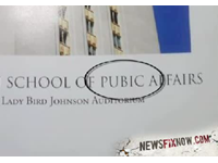 Unfortunate Typo Alert: 'LBJ School Of Pubic Affairs'