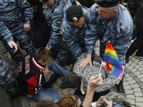 Police Break Up Gay Rally In Moscow