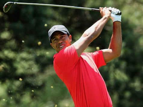 Tiger's Back, It's Feeling Better Even if He's Well Back of Leaders at Quicken Loans National