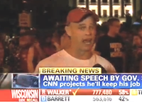 Weeping Anti-Walker Protester: 'Democracy Died Tonight'