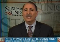 Axelrod Spins, Stammers, Dodges, Won't Answer If 'Private Sector Is Doing Fine'