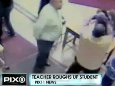 Shocking Video: Teacher Viciously Beats Student