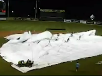 Tarp Takes Out Entire Grounds Crew