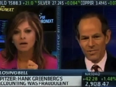 CNBC Host Presses Spitzer on Political Prosecution of AIG