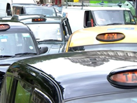London Cabbies Block Traffic In Protest