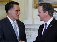 Romney Meets With British P.M.