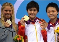 Chinese swimmers make history