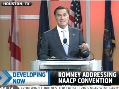 Romney Booed At NAACP