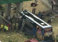 Chi to St. Louis Double-Decker Megabus Crashes into Bridge