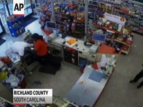 Female Clerk Bare Knuckle Beatdown of Robbery Suspect