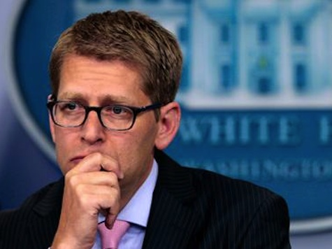 WATCH: Carney Gets Ruffled With Reporters Questioning Ad