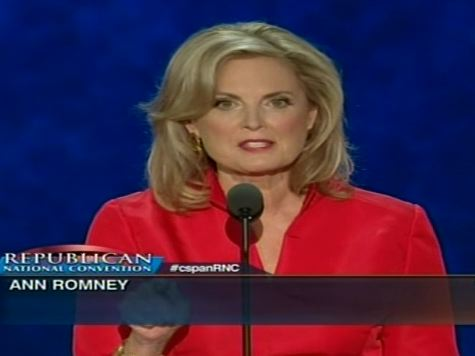 Ann Romney: 'Mitt Was Not Handed Success… HE BUILT IT!'