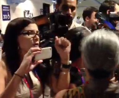 Breitbart's Loesch Confronts Protester Who Disrupted Romney Speech