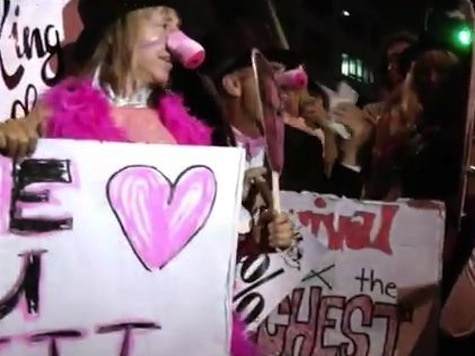 Code Pink 'Pig' Protest Romney at Republican Convention