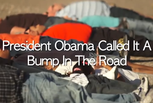 Romney Ad Slams Obama's 'Bump In The Road' Statement Over Economy