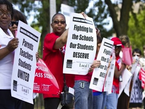 Chicago Teachers Making $74,839 a Year Go On Strike