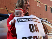 Chicago Teachers Begin Day Three Of Protests, Involve Students