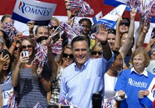 Heckler Disrupts Moment of Silence at Romney Rally