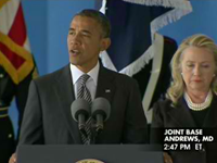 Obama Delivers Speech During Arrival Of US Embassy Attack Victims