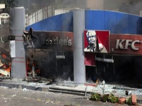 Protesters Burn Down Hardee's and a Kentucky Fried Chicken in Lebanon
