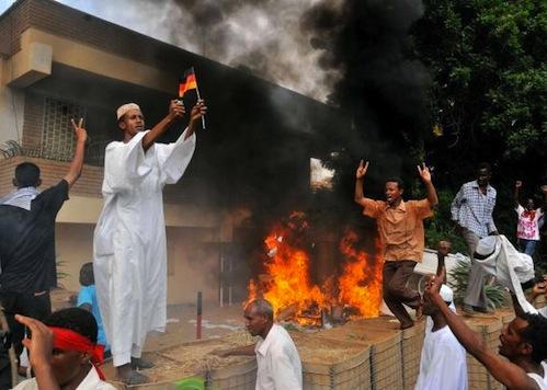 Sudan Protesters Storm German Embassy