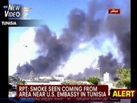 Smoke Rises from US Embassy in Tunisia