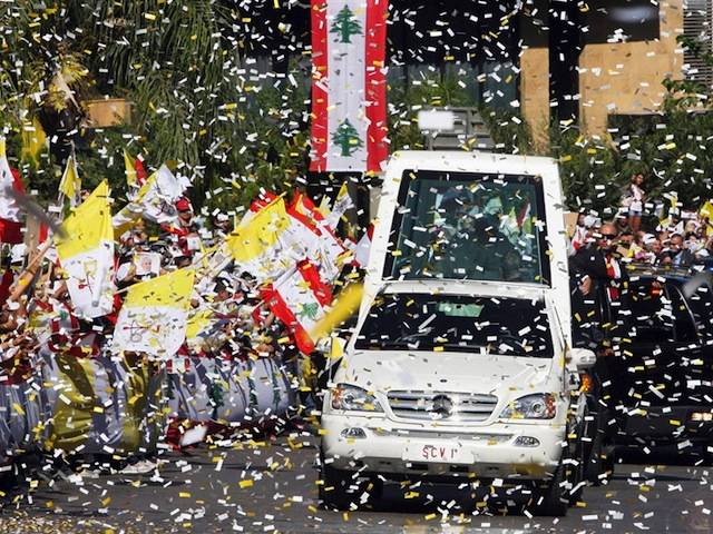 Thousands Cheer Pope's Call For Religious Harmony In Beirut
