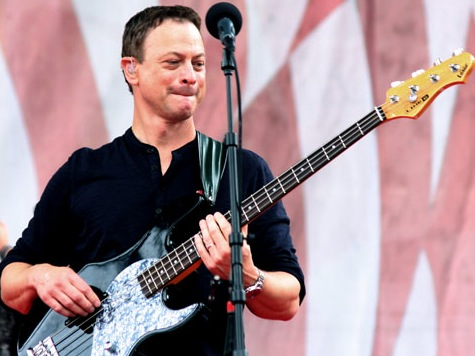Actor Gary Sinise, Lt. Dan Band Perform At Camp Lejeune