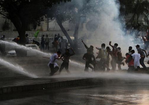 Mayhem in Pakistan:  Tear Gas, Bullets, One-Dead