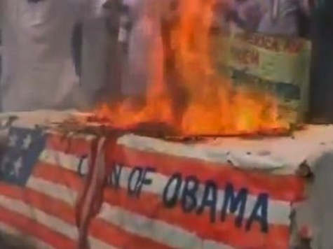 Bangladeshi Protesters Torch Coffin Of Obama