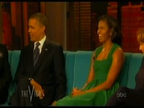 Obama Says He Stopped By The View To Be 'Eye Candy'