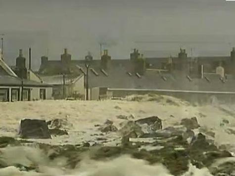 Creepy Sea Foam Swallows Scotland City