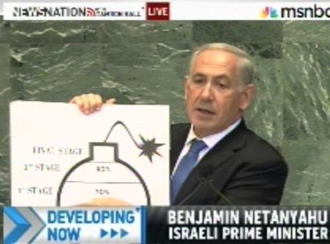 Bibi Schools UN With Bomb Chart, Draws Literal Red Line