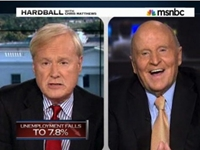 Jack Welch Versus Chris Matthews: Unemployment Numbers Throw down