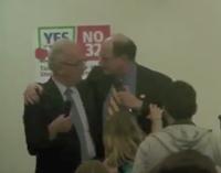 Dem Rep Gives Debate Opponent Menacing Bear Hug