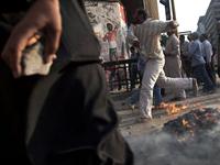 Protestors Clash In Tahrir Square