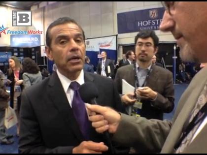 Spin Room Exclusive: LA Mayor Repeats Obama AZ Immigration Law Lie