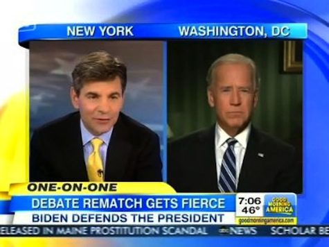 Stephanopoulos Fawns Over Biden