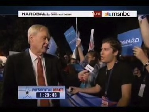 Chris Matthews Mocks Young Romney Supporter 'Read a Newspaper'