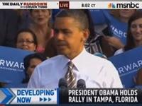 NBC's Brian Williams: Obama's Crowd Size Shrinking