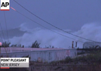 Video: Huge Waves Pound Jersey Shore