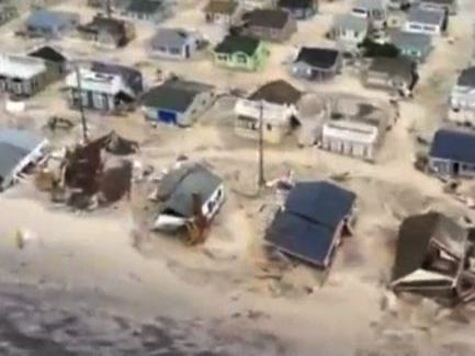 Chopper Footage Shows Devastation Along NJ Beach