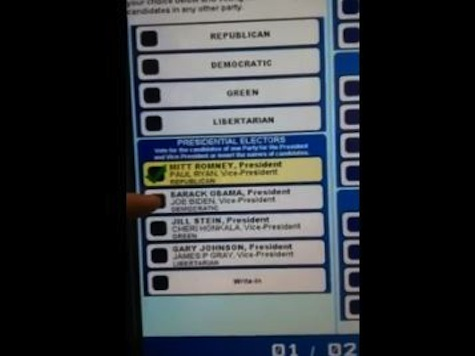 Video Captures Voting Machine Changing Vote