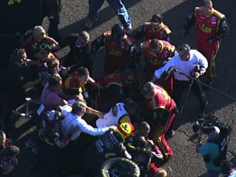 VIDEO: Huge NASCAR Brawl Between Gordon And Bowyer