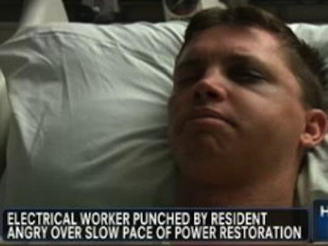 Sandy Victim Beats Up Utility Worker